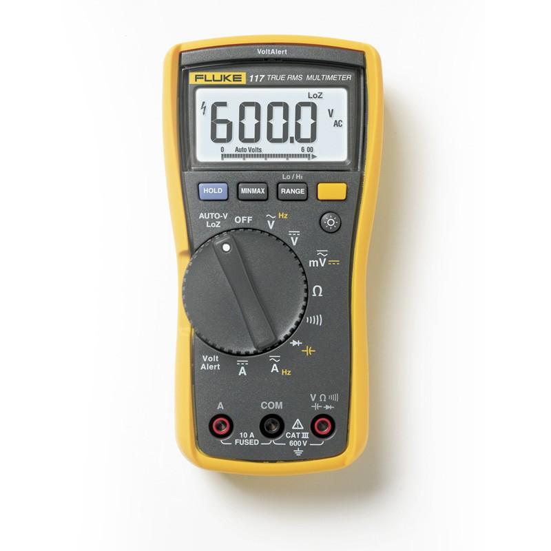 Fluke 117 detecta voltaje sin contacto
