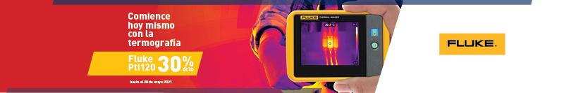 Comience hoy con la termografía: Fluke Pti120 con 30% de descuento