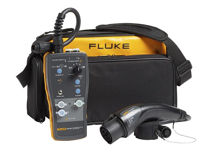 Adaptador de prueba estaciones de carga vehículos eléctricos Fluke FEV100
